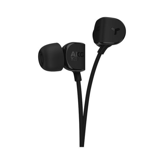 Y20U - Black - Signature AKG in-ear stereo headphone that takes your calls - Detailshot 1