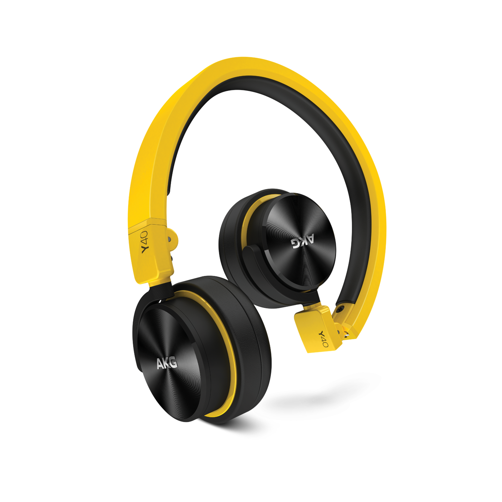 Y40 - Yellow - High-performance foldable headphones with universal in-line microphone and remote - Hero
