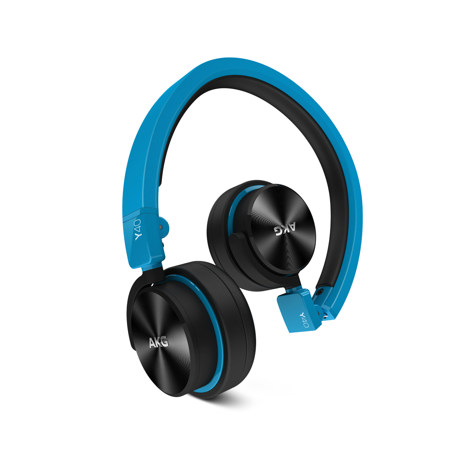 Y40 - Blue - High-performance foldable headphones with universal in-line microphone and remote - Hero