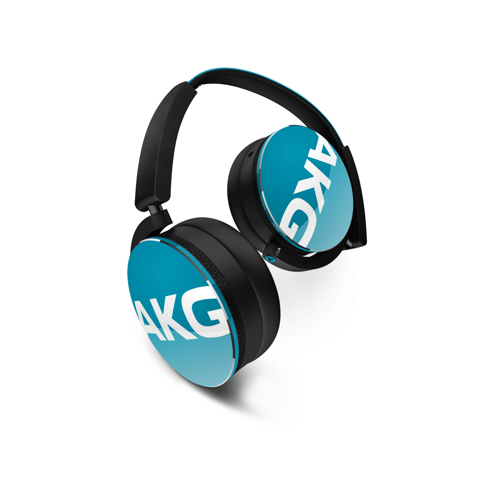 Y50 - Blue - On-ear headphones with AKG-quality sound, smart styling, snug fit and detachable cable with in-line remote/mic - Hero