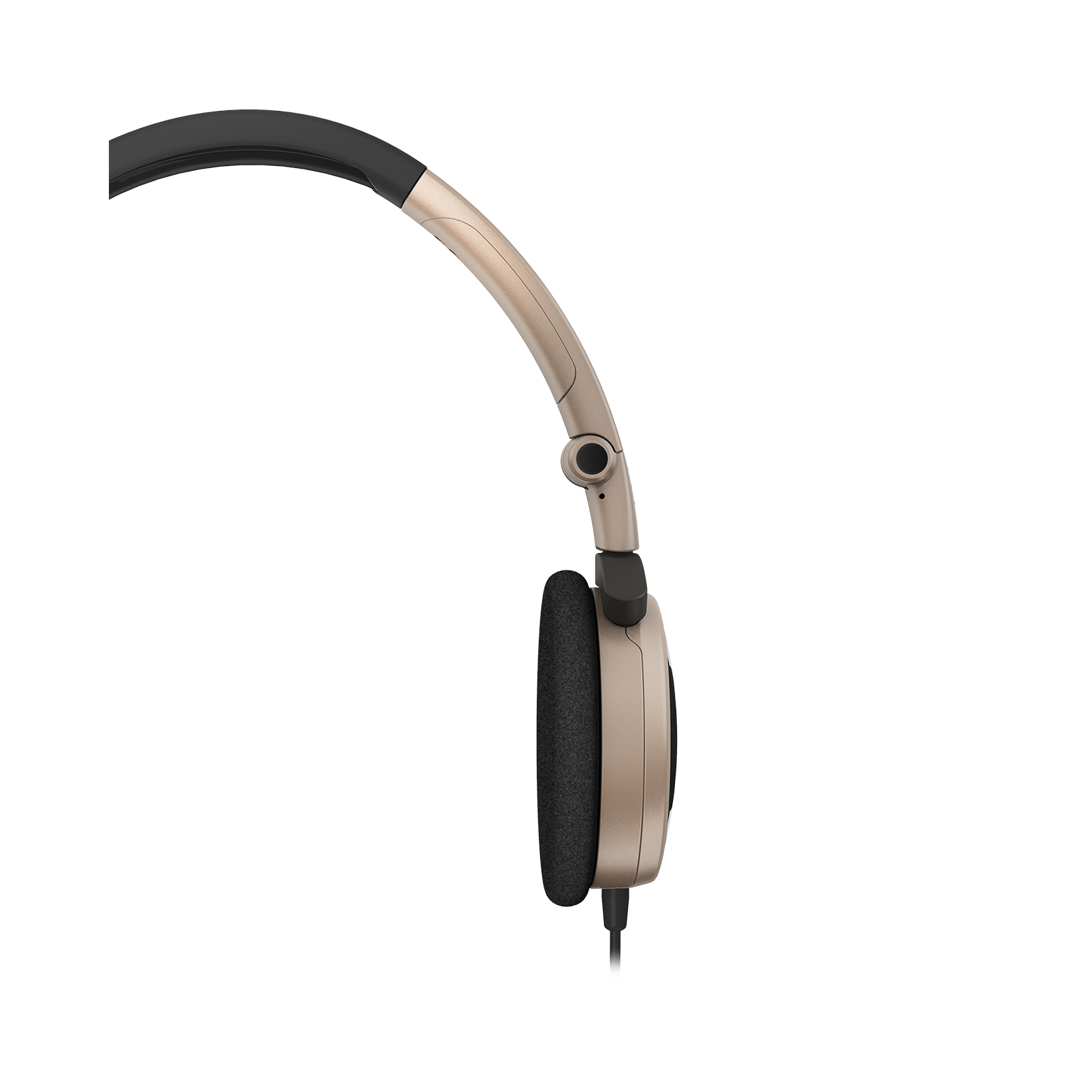 Y 30 - Brown - Stylish, uncomplicated, foldable headphones with 1 button universal remote/mic - Detailshot 2